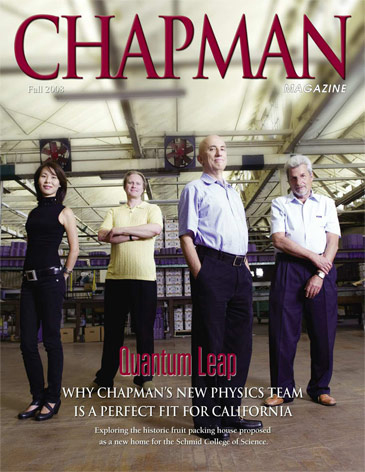 California Executive Editorial Photo Shoot - Chapman University, Physics Department, Chapman Magazine