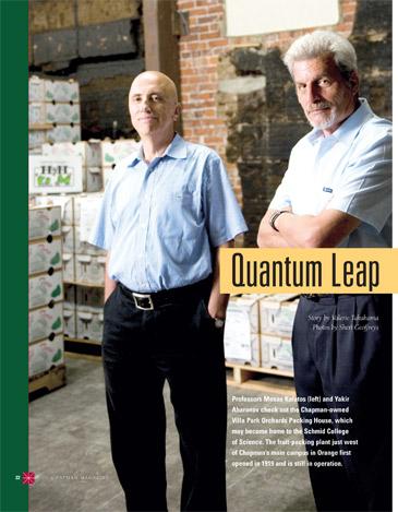 California Executive Editorial Photo Shoot - Chapman University, Physics Department, Chapman Magazine
