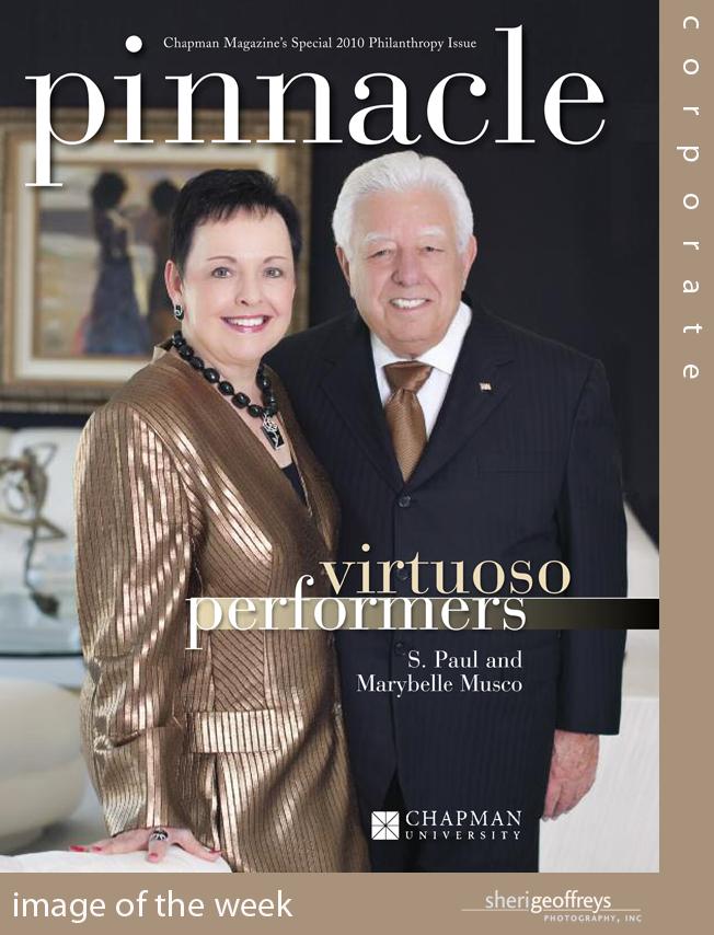 California Executive Editorial Photo Shoot- Chapman University, Pinnacle Magazine, Paul & Marybelle Musco