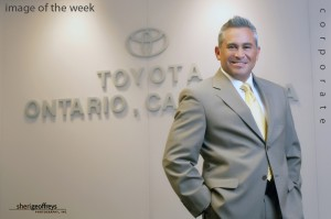 Corporate Business Executive Portrait - Eduardo I. Huante, North American Part Center, California, Toyota National Manager