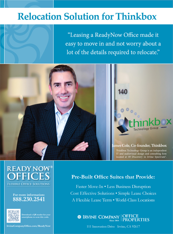 Irvine Company Ad - Thinkbox, James-Cole, Co-Founder