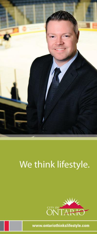 City of Ontario Ad Campaign, Justin Kemp, President, Reign Hockey Team, Citizens Business Bank Arena- Design Firm, The Spaulding Thompson & Associates, spauldingthompson.com